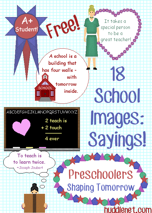 18 School sayings images | huddlenet.com | #School #Graphics #Images