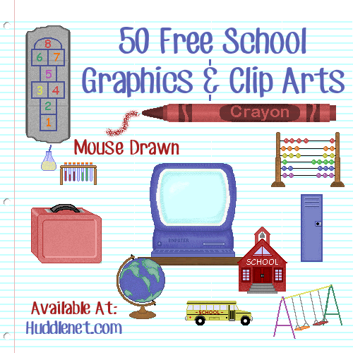 50 Free School Graphics and Clip Arts
