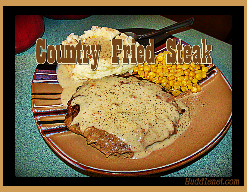 Country Fried Steak Recipe by Huddlenet.com