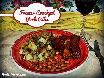 Freezer Crockpot Pork Ribs