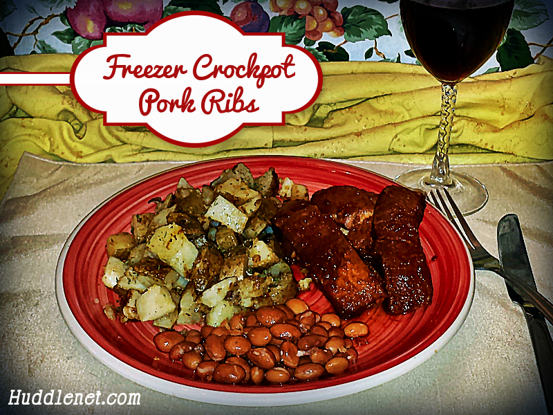 Freezer Crockpot Pork Ribs