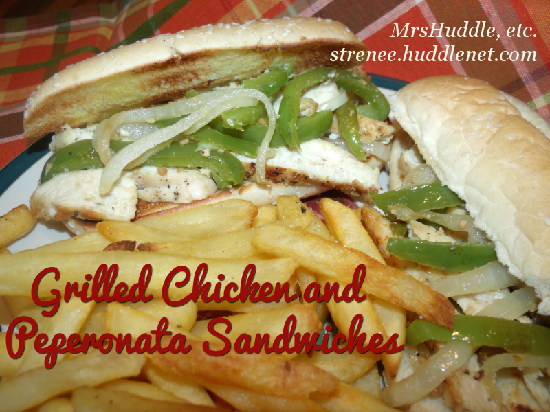 Grilled Chicken and Peperonata Sandwiches