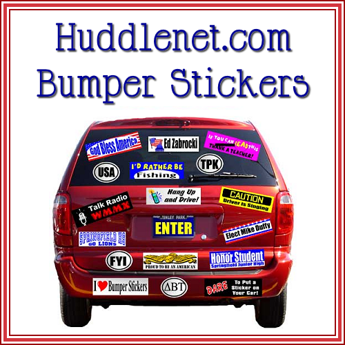 Huddlenet.com Bumper Stickers