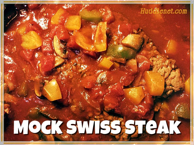 Mock Swiss Steak | Tender, delicious and easy to make! | #Recipes #Steak | Huddlenet.com