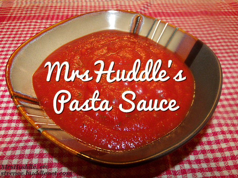 MrsHuddle Pasta Sauce