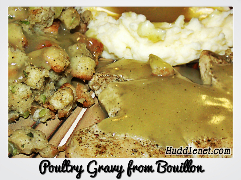 Poultry Gravy from Bouillon