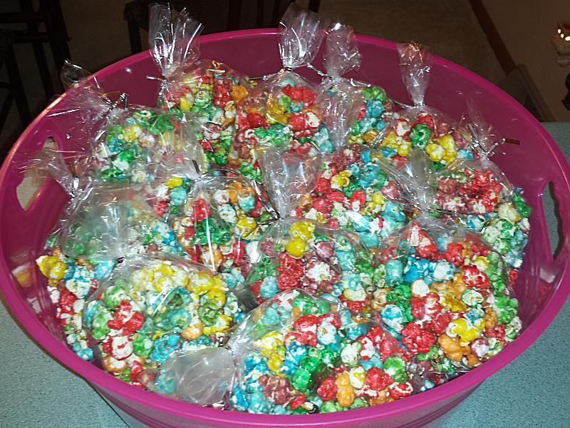 Rainbow Popcorn - Bagged popcorn
