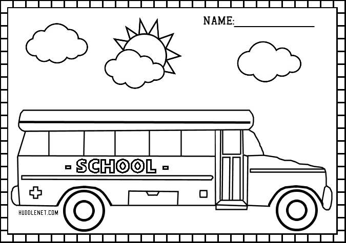 Back to School: Free Coloring Pages