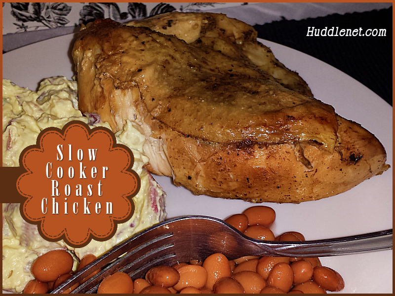 Slow CooSlow Cooker Roast Chicken - Finger licking and lick smacking good! It's amazingly tender & moist and cooks while you go about your day. #recipes #chicken #crockpotker Roast Chicken