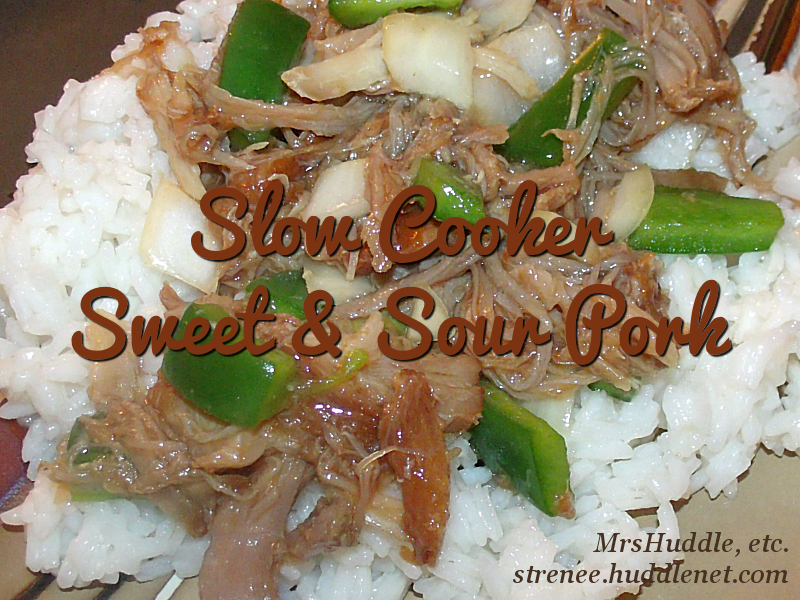 Slow Cooker Sweet & Sour Pork