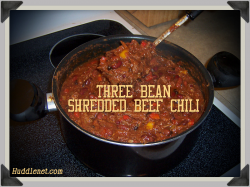 Three Bean Shredded Beef Chili