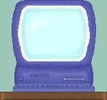 Blue computer school clipart