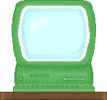 Green computer school clipart