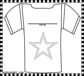 Dallas Cowboys Jersey - Coloring Page | www.huddlenet.com