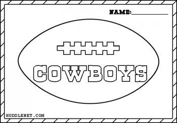 Dallas Cowboys Football - Coloring Page | www.huddlenet.com