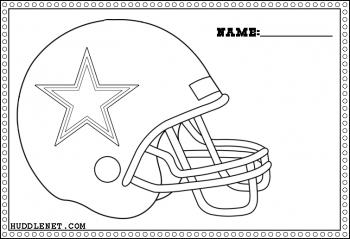 Dallas Cowboys Helmet - Coloring Page | www.huddlenet.com