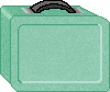 Green Lunchbox school clipart