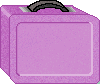 Purple Lunchbox school clipart