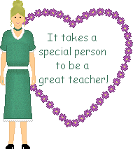 It takes a special person to be a great teacher school clipart