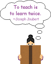 To teach is to learn twice - school clipart