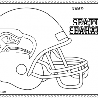 Seattle Seahawks Helmet Coloring Pages Seattle Seahawks Helmet Coloring Page