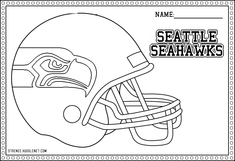 Seattle Seahawks: Free Coloring Pages